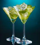 Glaces de cocktails Image libre de droits