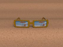 glaces de 3D Sun illustration stock