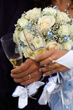 Glaces de mariage Images libres de droits