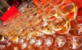 Glaces de vin Image stock