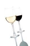 Glaces de vin images stock
