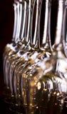 Glaces de vin alignées Image libre de droits