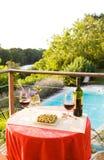 Glaces de vin au regroupement Images stock