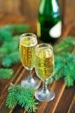 Glaces de vin blanc Photo libre de droits