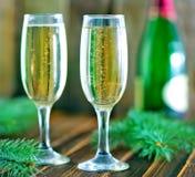 Glaces de vin blanc Image libre de droits