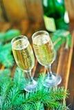 Glaces de vin blanc Image stock
