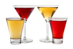 Glaces de vin de couleur Image stock