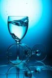 Glaces de vin en verre images libres de droits