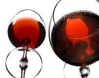 Glaces de vin rouge Photos libres de droits