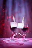 Glaces de vin rouge Photographie stock libre de droits