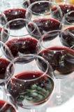 Glaces de vin rouge, orientation sélectrice Images stock