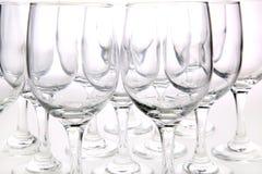 Glaces de vin sur le fond blanc Photo libre de droits