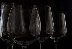 Glaces de vin sur le noir Photographie stock