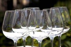 Glaces de vin vides Photos libres de droits