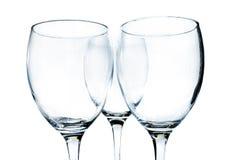 Glaces de vin vides image libre de droits