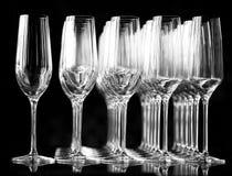 Glaces de vin vides Photographie stock