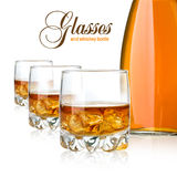 Glaces de whiskey photo stock