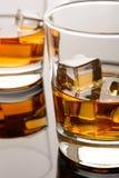 Glaces de whiskey Macro Image libre de droits