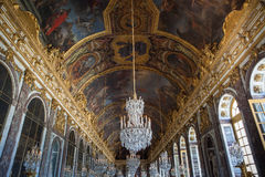 Glaces del DES di Galerie di Château de Versailles, Francia Immagini Stock