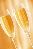 glaces deux de champagne Photo stock