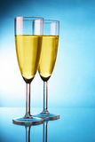 glaces deux de champagne Images stock
