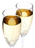 glaces deux de champagne Image libre de droits