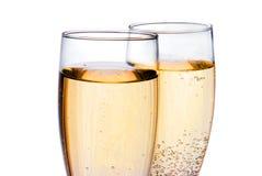 glaces deux de champagne Photo libre de droits