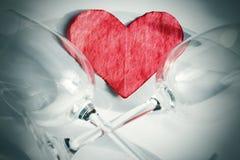 Glaces et coeur de valentine Photographie stock