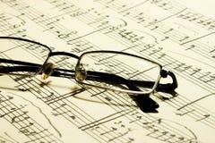 Glaces et notes de musique Photos libres de droits