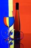 Glaces et vin Images libres de droits