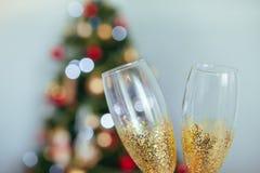 Glaces Les verres de vin Verres en vacances Photos stock