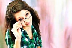 Glaces s'usantes de l'adolescence Photographie stock libre de droits