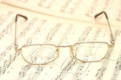 Glaces sur la musique de feuille Images libres de droits