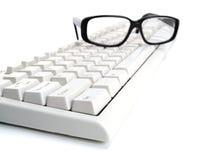 Glaces sur le clavier Images stock