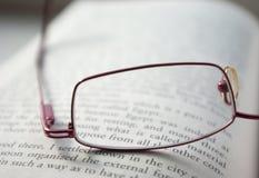 Glaces sur un livre Image stock