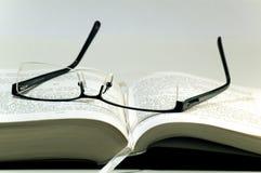 Glaces sur un livre Images libres de droits
