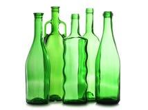 Glaces vertes de martini sur la bouteille Photo libre de droits