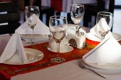 Glaces vides dans le restaurant Images stock