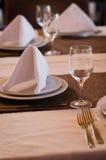 Glaces vides dans le restaurant Photo libre de droits