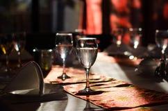 Glaces vides dans le restaurant Image stock