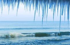 Glacez le glaçon, hiver, froid, neige, mer image stock