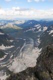 Glaciär Akkem i Altaien Arkivfoto