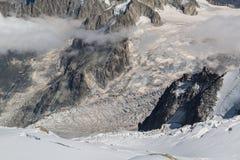 Glaciär du Buckla Arkivfoto