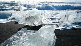 Glaciär för havisblått stock video