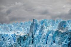 Glaciär för Pio XI - Chile Arkivbild