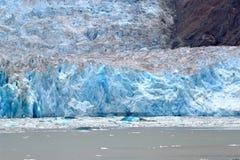 Glaciär i Alaska Arkivbilder