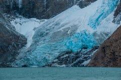 Glaciär i det Fitz Roy Mountain området, Argentina Arkivbilder