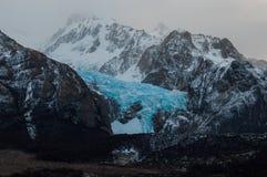 Glaciär i det Fitz Roy Mountain området, Argentina Fotografering för Bildbyråer