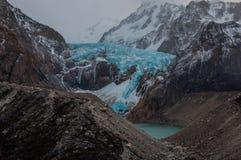 Glaciär i det Fitz Roy Mountain området, Argentina Royaltyfri Bild