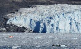 Glaciär i Grönland 6 Arkivfoto